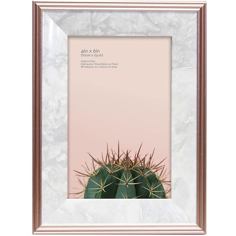 4X6 Foil Rose Gold Tabletop Frame