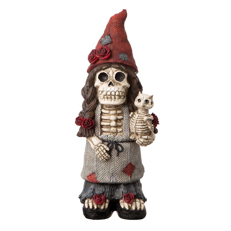 """Lady Skeleton Gnome, 16"""""""