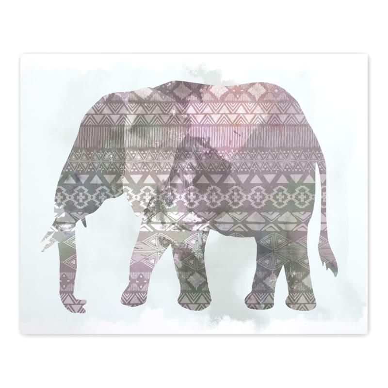 20X16 Boho Ornate Elephant Canvas Wall Art