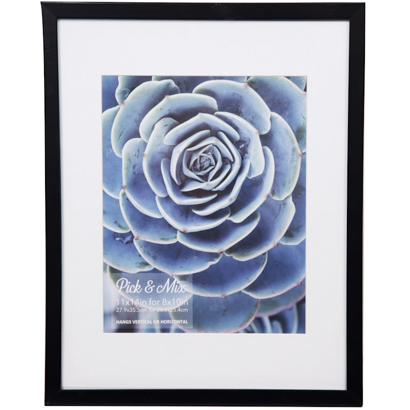 Pick And Mix 11X14 Matted To 8X10 Black/White Mat Linear Photo Frame
