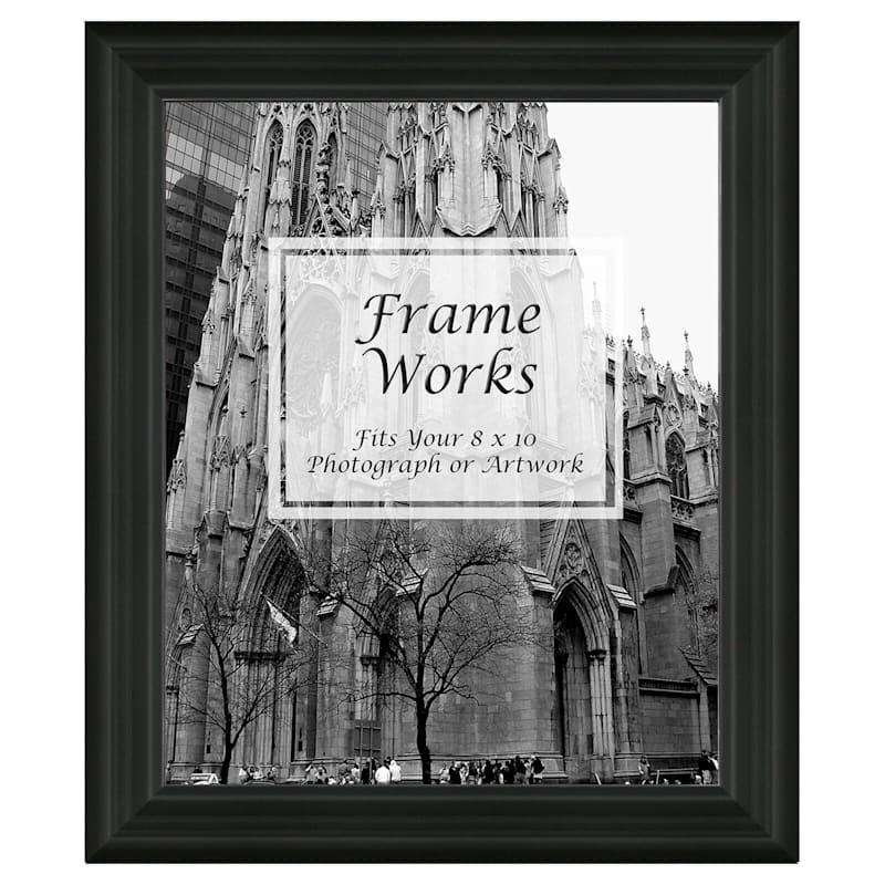 8X10 Wide Black Ridged Wall Photo Frame
