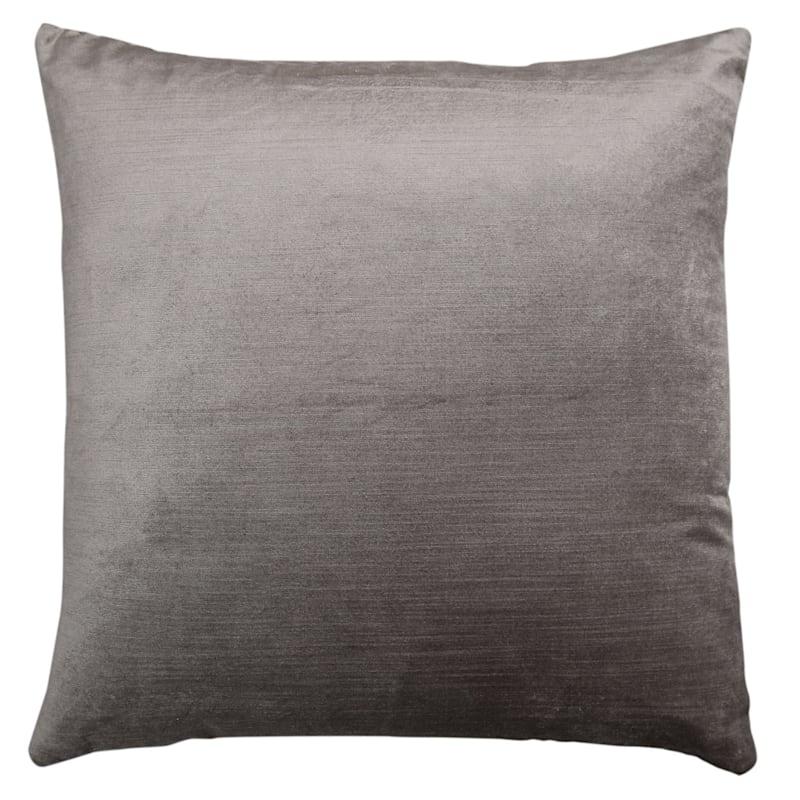 Gillmore Grey Velvet Decorative Pillow 18X18