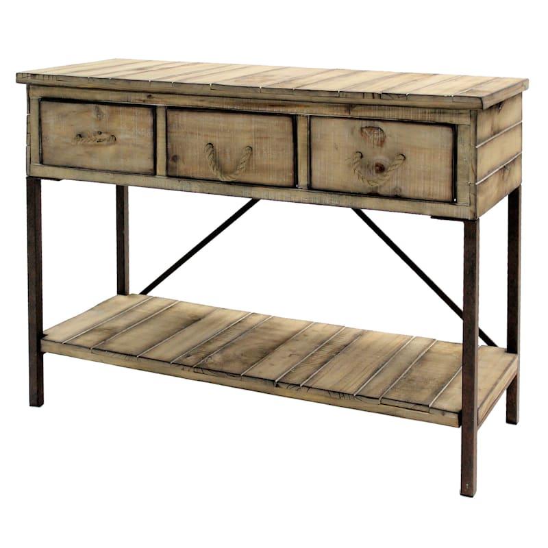 Hawley 3 Drawer 1 Shelf Console Table