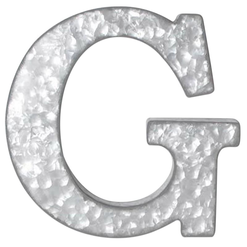 12in. Galvanized Metal Monogram G