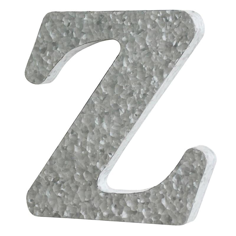 12in. Galvanized Metal Monogram Z