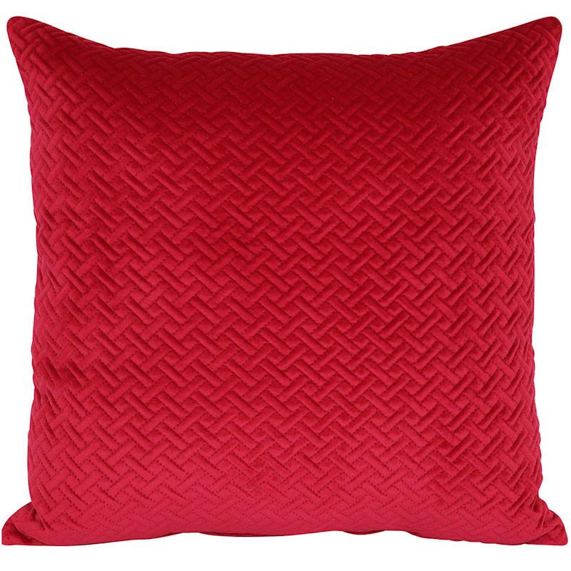 Wicker Park Red Pinsonic Plush Pillow 18X18