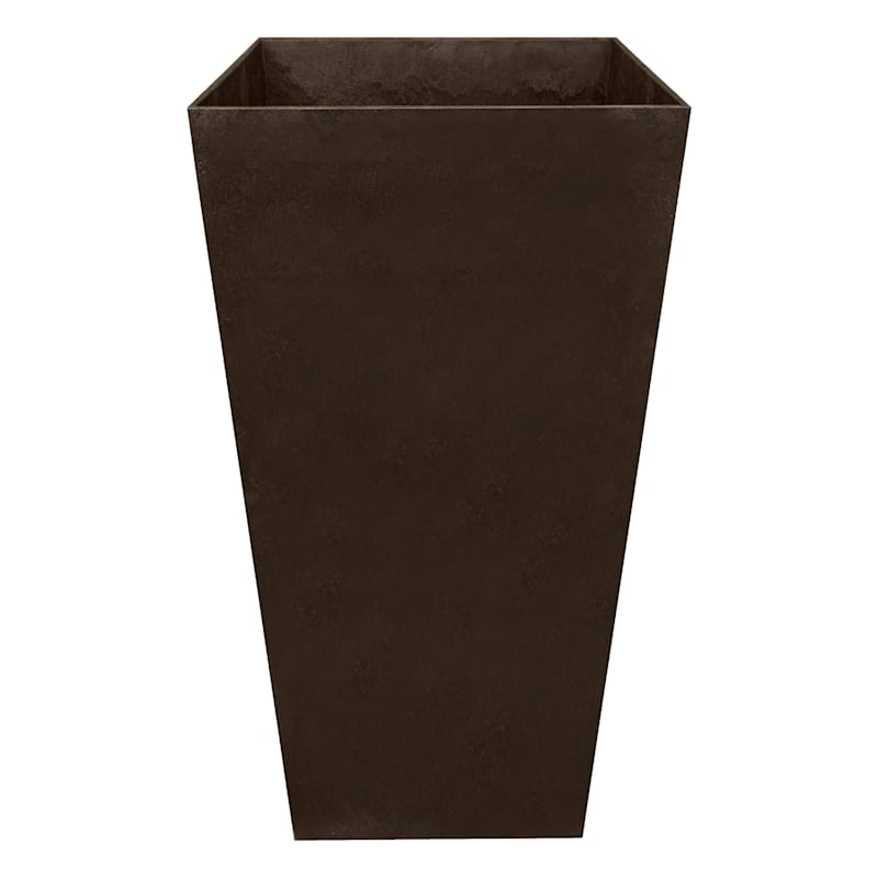 Sonata Slate Recycled Rubber Planter 15X15X28