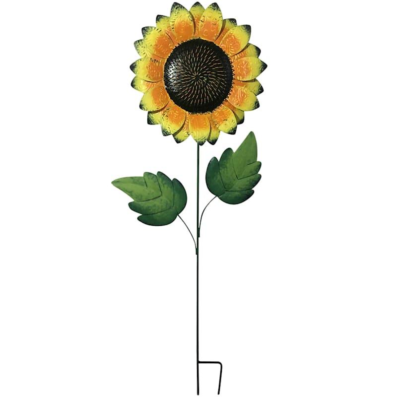 Large Metal Sunflower Stake