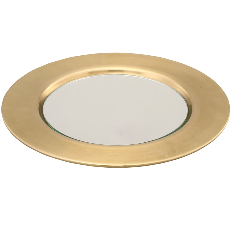 11.9in. Charger Plate With Mirror