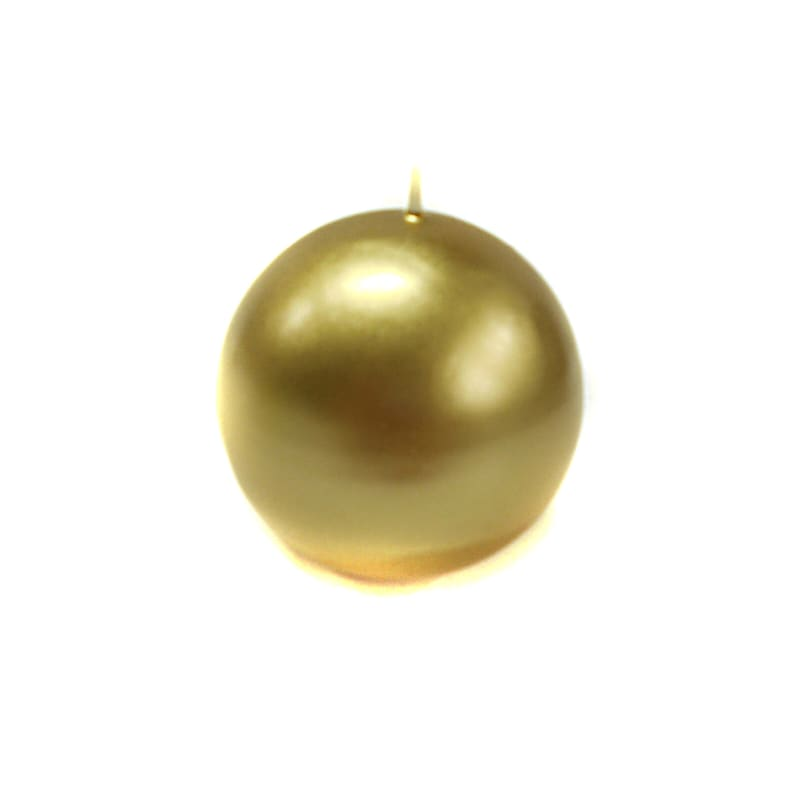 2.8in. Sphere Candle Metallic Gold