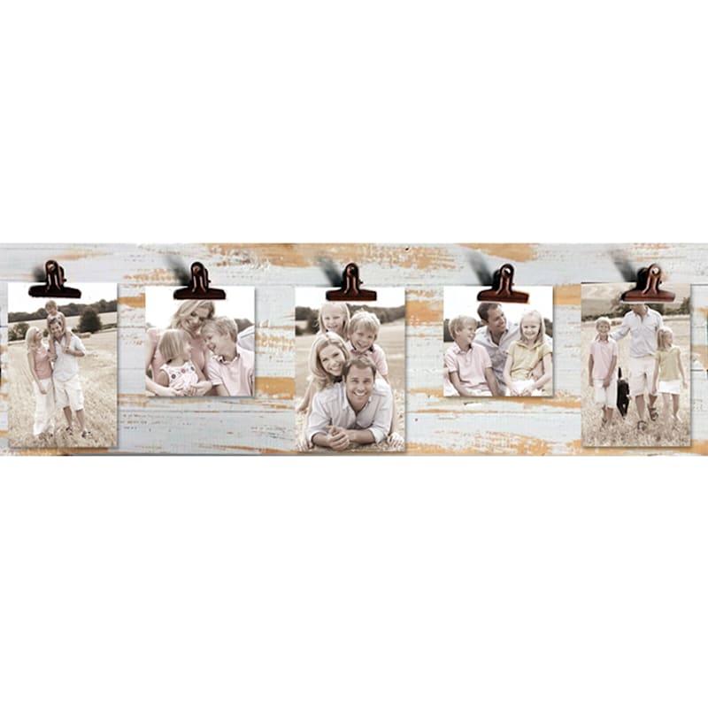 24X8 Distressed Panel Photo Collage