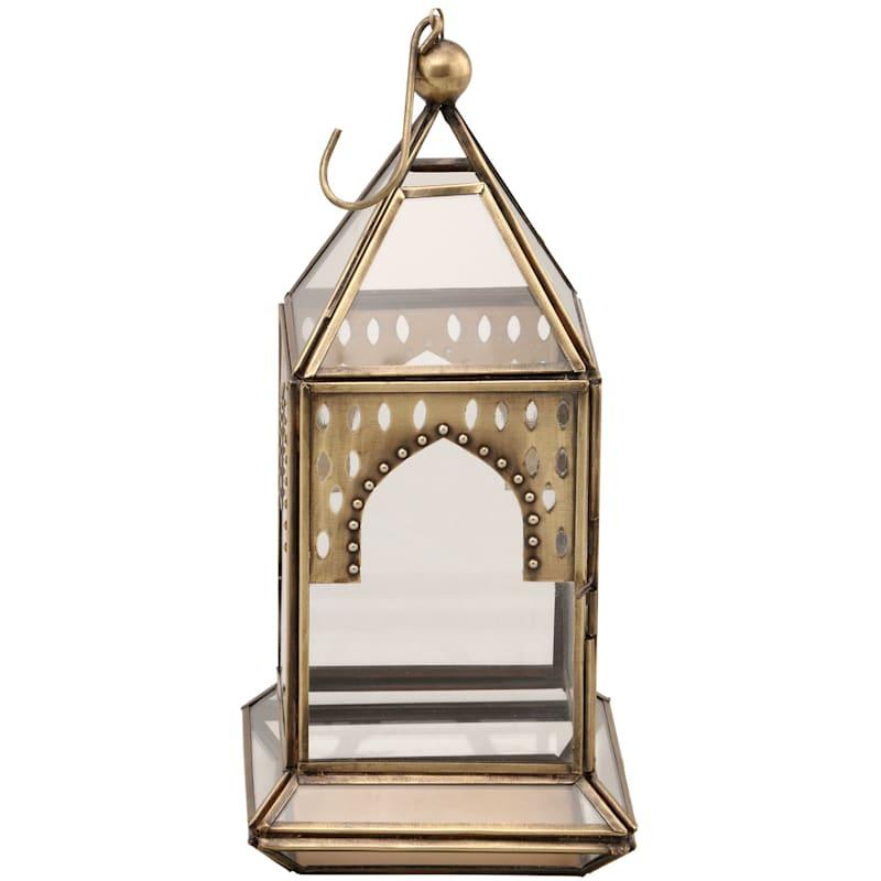 10.5in. Gold Boho Lantern