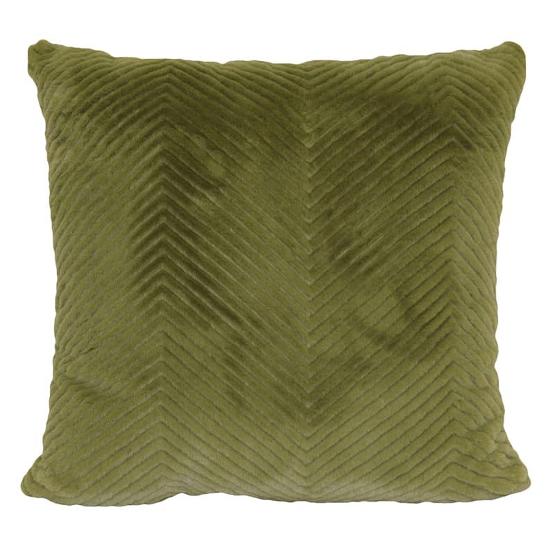 "Cheviot Green Throw Pillow, 18"""
