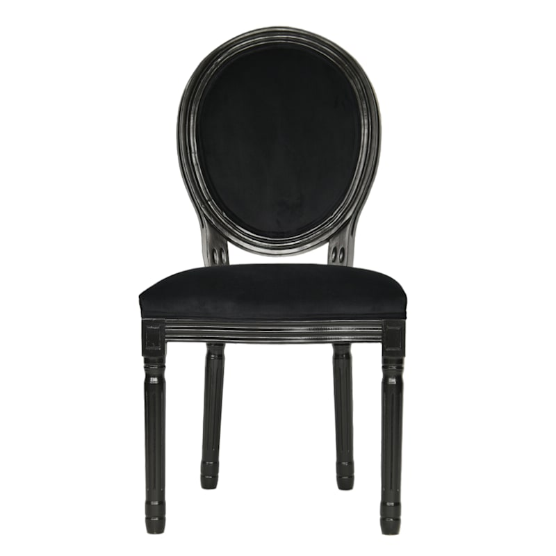 Ava Oval Back Black Wood Dining chair