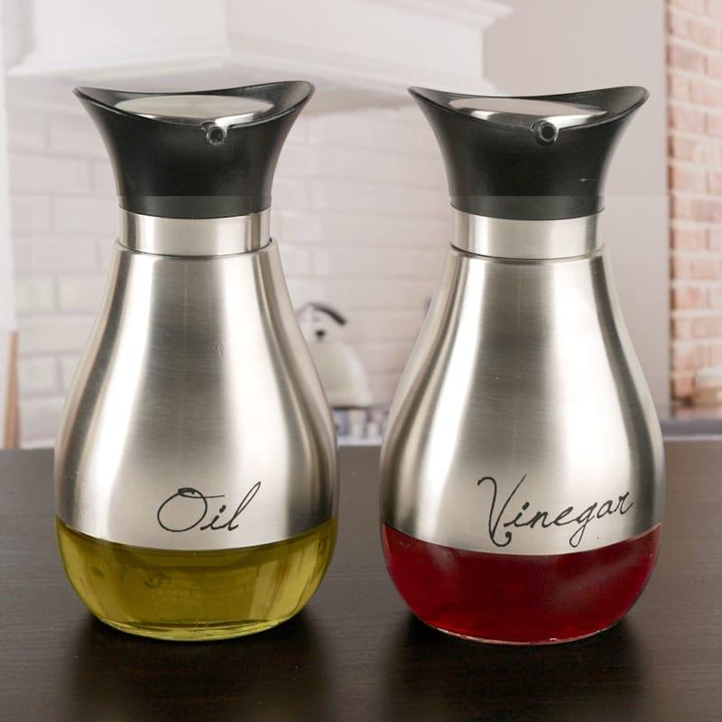 Contempo Silver Oil/Vinegar Set