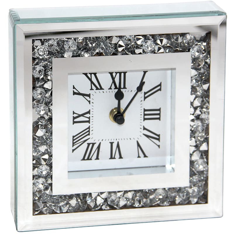 6in. Bling Clock With Diamond