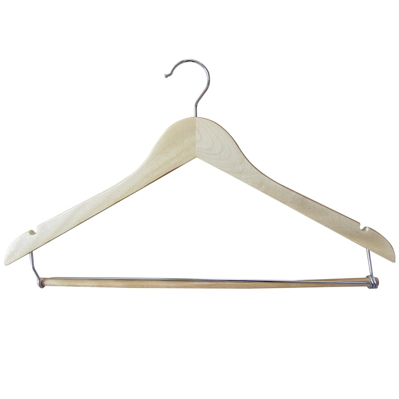 Wood Natural 5-Piece Suit Hanger/Bar