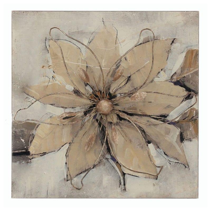 16X16 Metal Flower Wall Art
