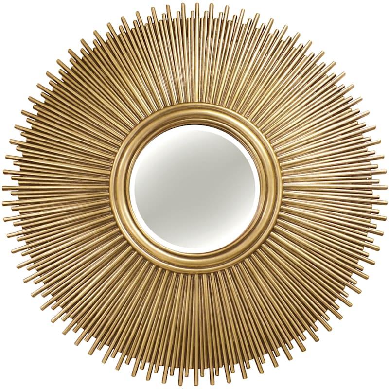 49in Round Sunburst Polyurethane Soft, Round Sunburst Mirror
