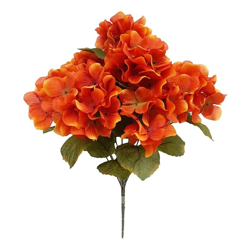 "Orange Hydrangea Bush, 19"""