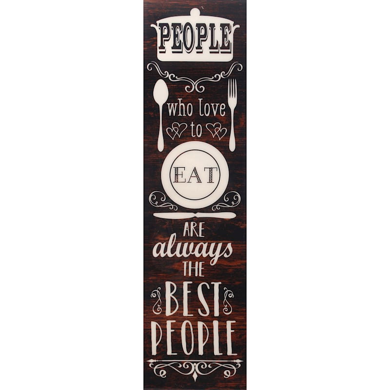 9X31 People Who Love To Eat Canvas