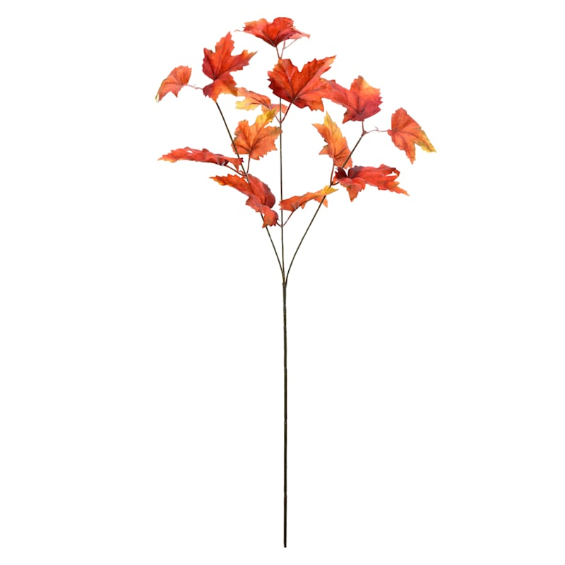 """Small Red Maple Leaf Stem, 29.5"""""""