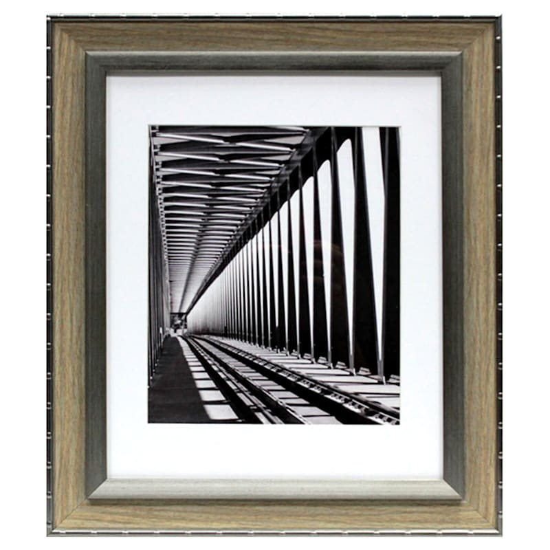 11X14 Matted To 8X10 Greywash Wall Frame
