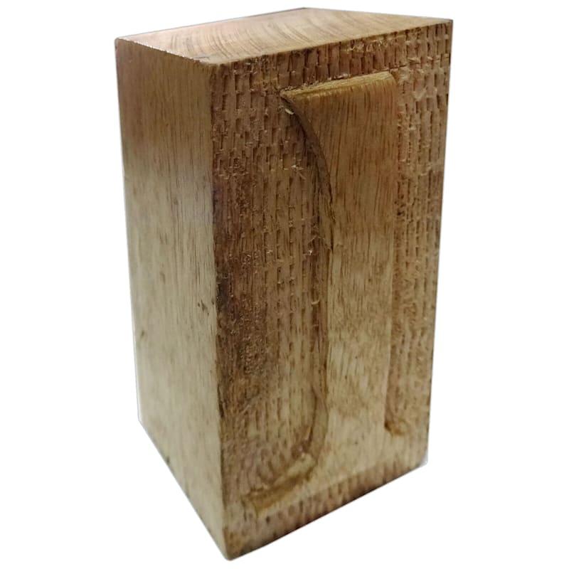 Wood Block Letter L