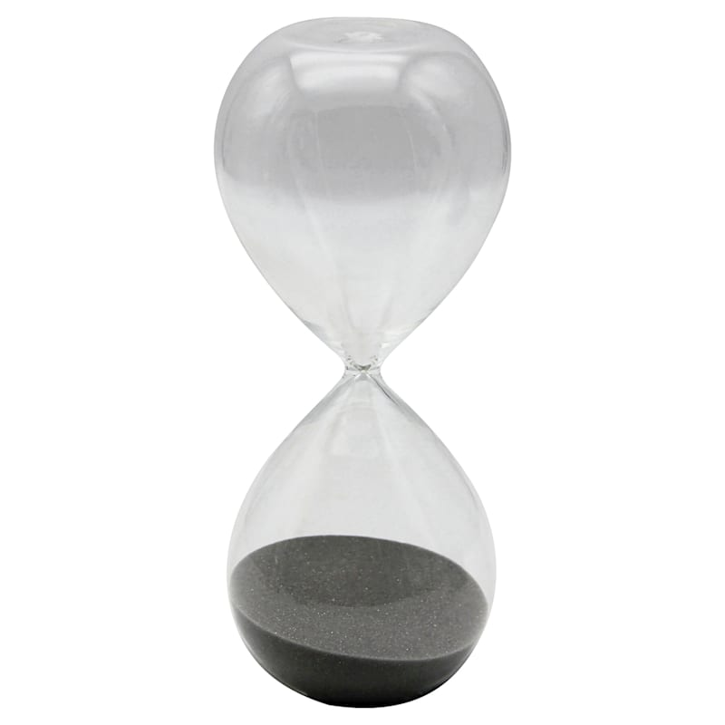 8in. Black Sand Hourglass