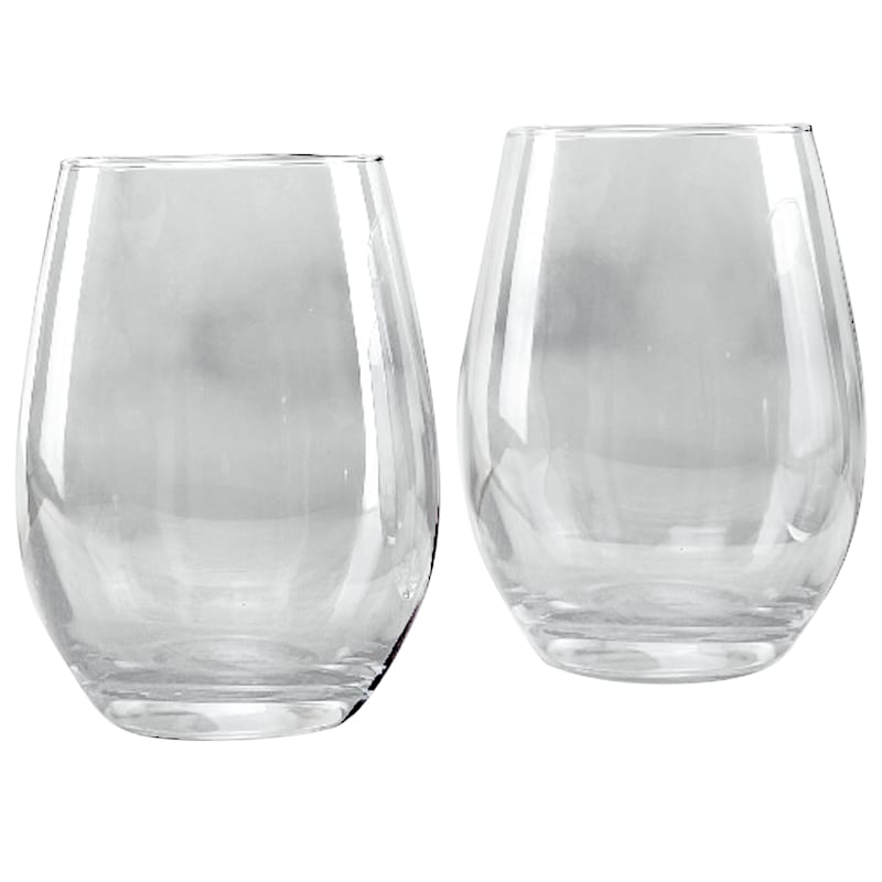 18.9oz Blue Luster Stemless Wine Glass