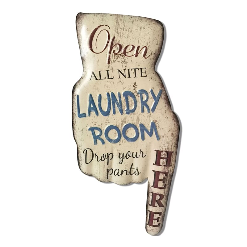 8In.X16In. Metal Laundry Room Wall Sign