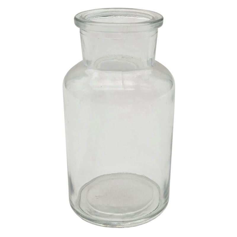 5in. Clear Round Glass Bud Vase