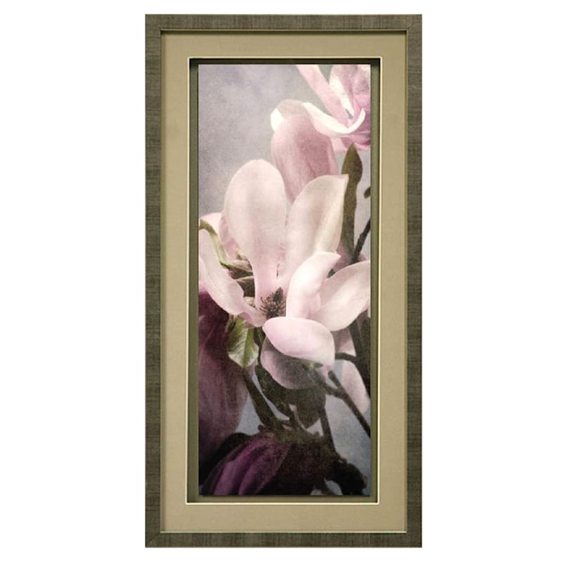 13X25 Blossoming Almond Framed/Glass Art