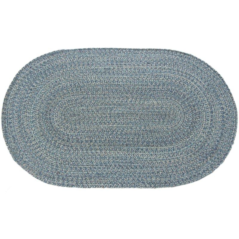 Braided Oval Multi Blue, 2x4