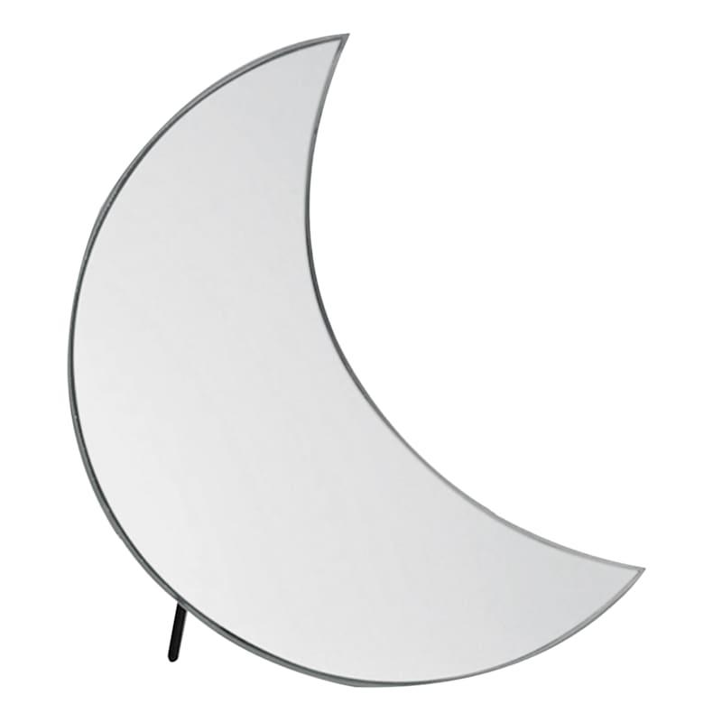 6X7 Glass Black Crescent Mirror