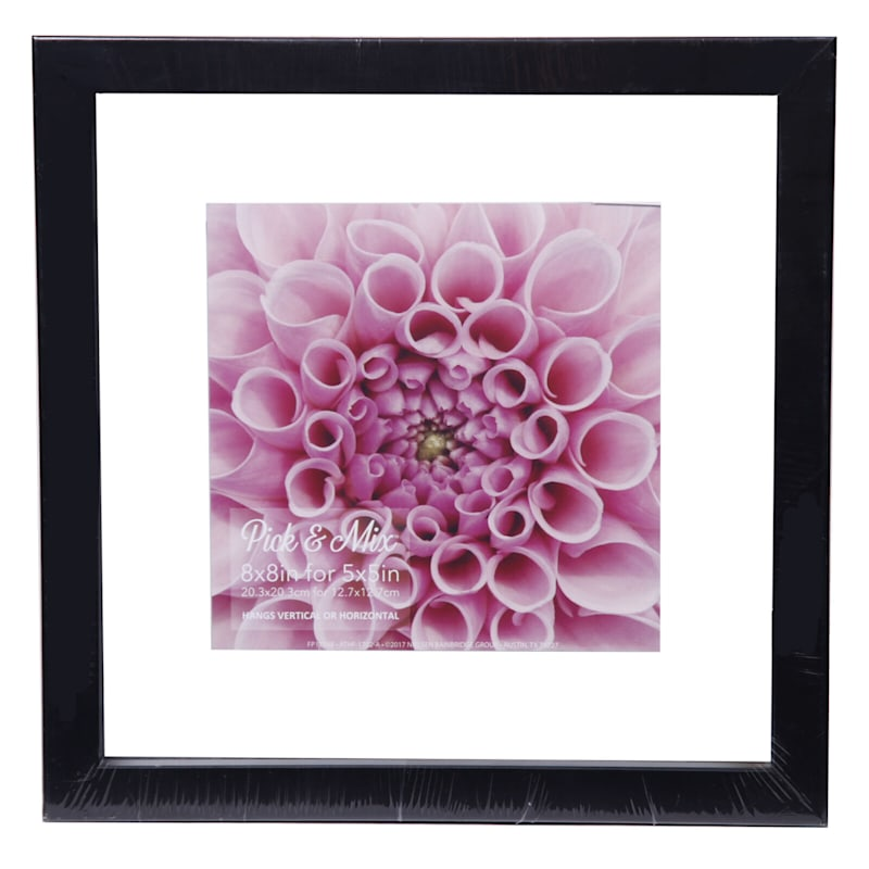 Pick And Mix 8X8 Black Linear Float Photo Wall Frame