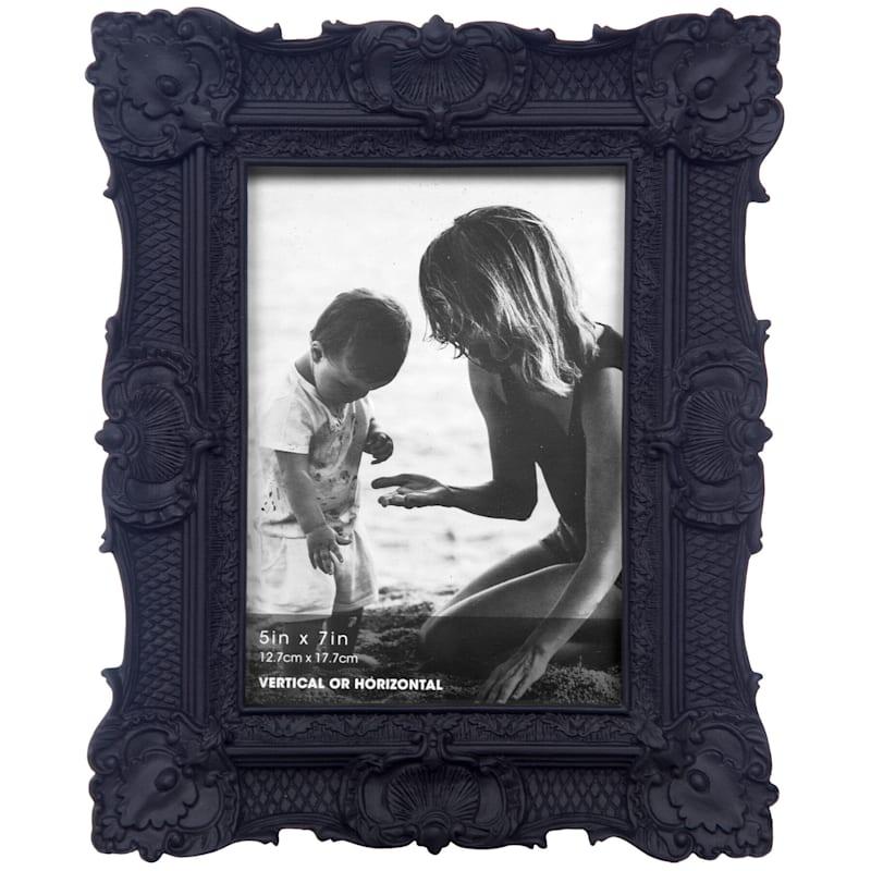 5X7 Black Ornate Profile Tabletop Photo Frame