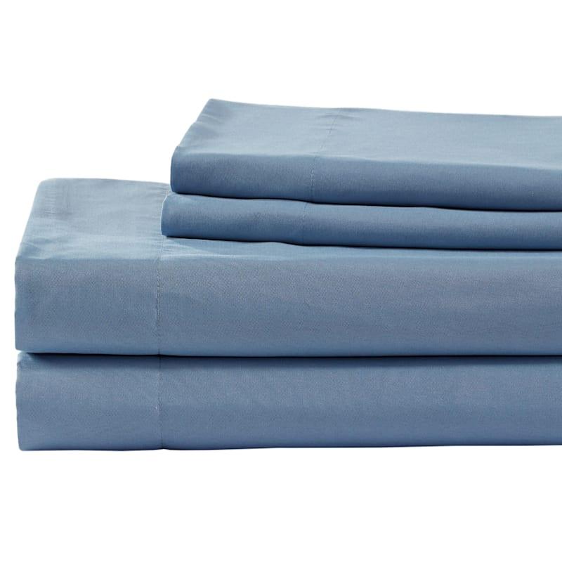 Blue Microfiber 4-Piece Sheet Set King
