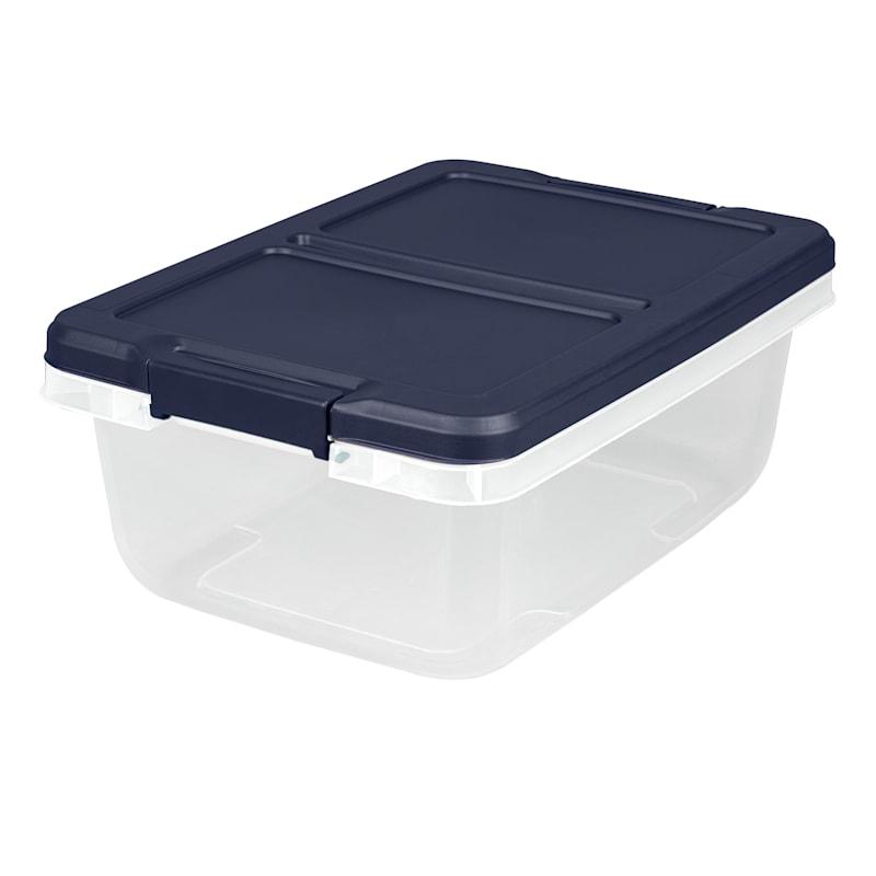 Hefty 15qt Storage Bin Clear/White
