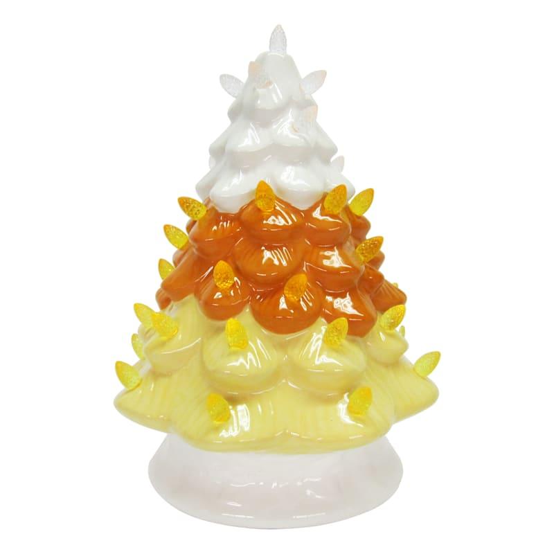 """Ceramic Candy Corn Tree, 10"""""""