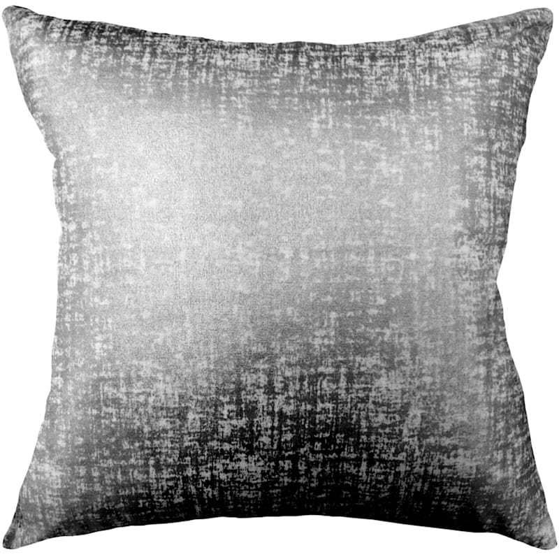 Luxor Gunmetal Metallic Foil Pillow 18X18