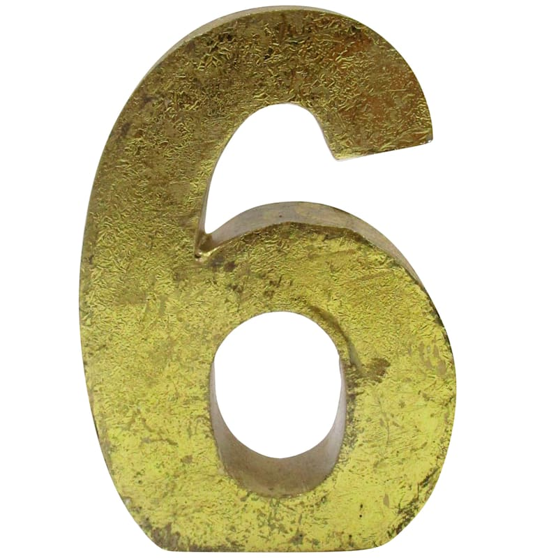 4IN 6 NUMBER GOLD