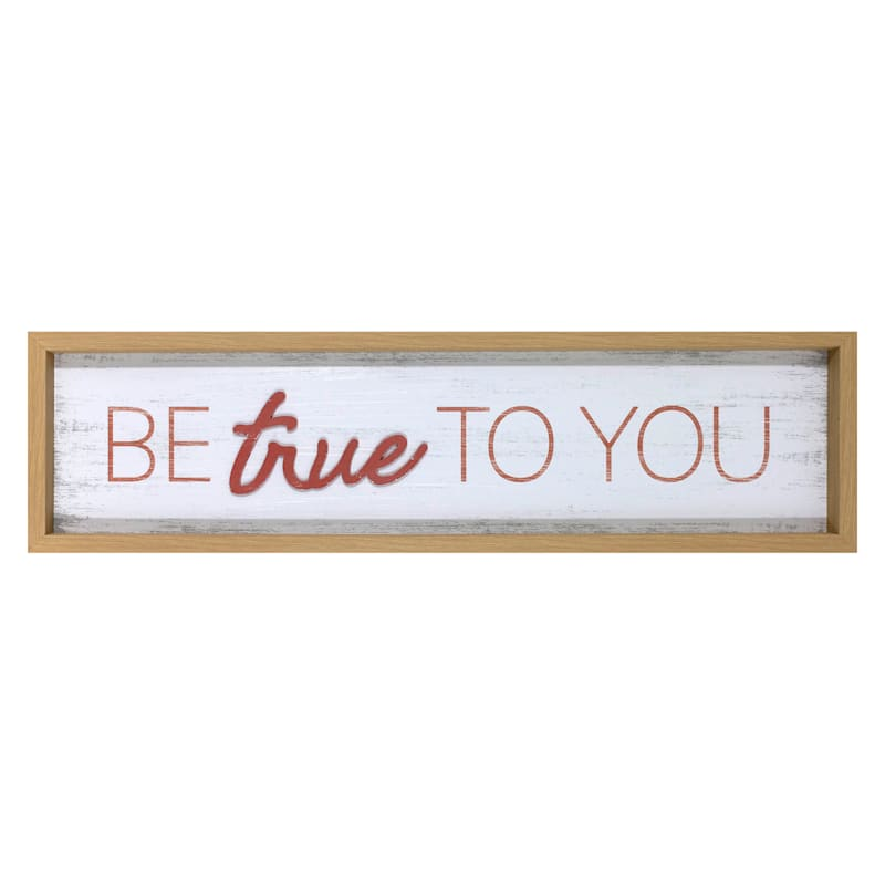 30x8 Be True To You Wooden Wall Art