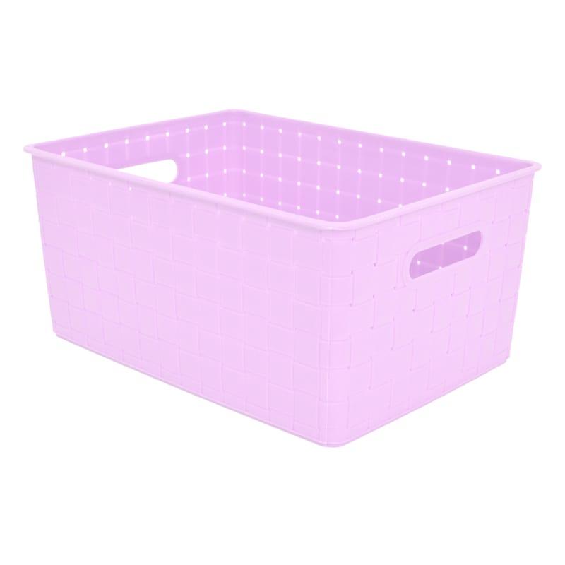 12X9X6 Weave Basket Lilac