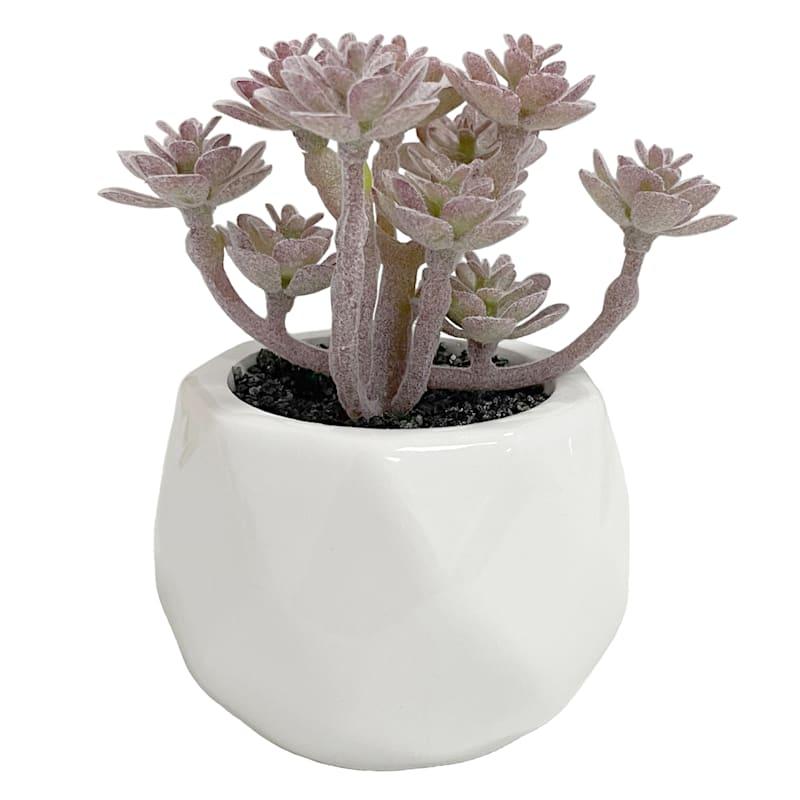 LAVENDER DECOR PLANT WHITE VAS