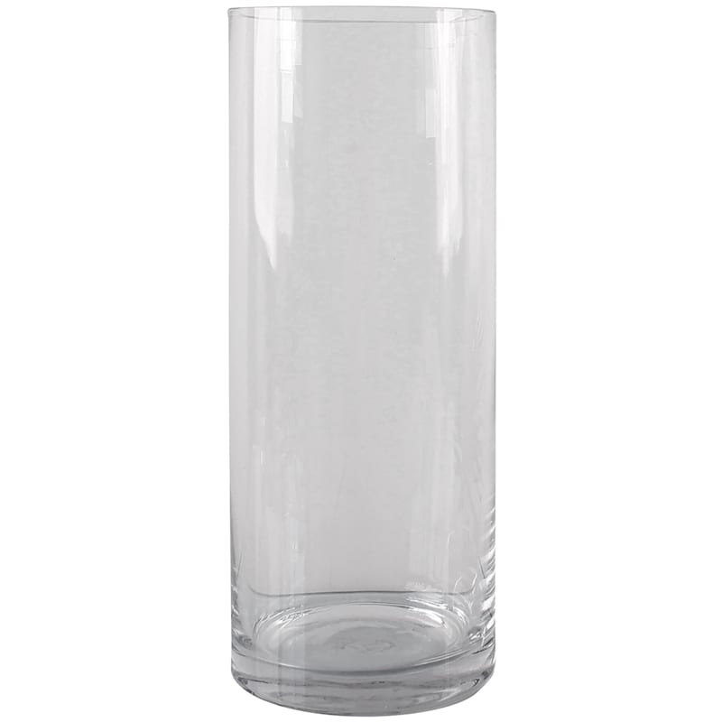 12in. Clear Glass Cylinder Vase