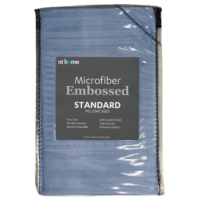 Blue Microfiber 2-Piece Pillow Case Standard 20X26
