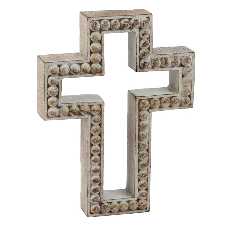 6in. Resin Brown Cross