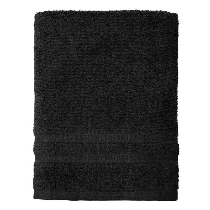 Essential Black Bath Towel 30X52