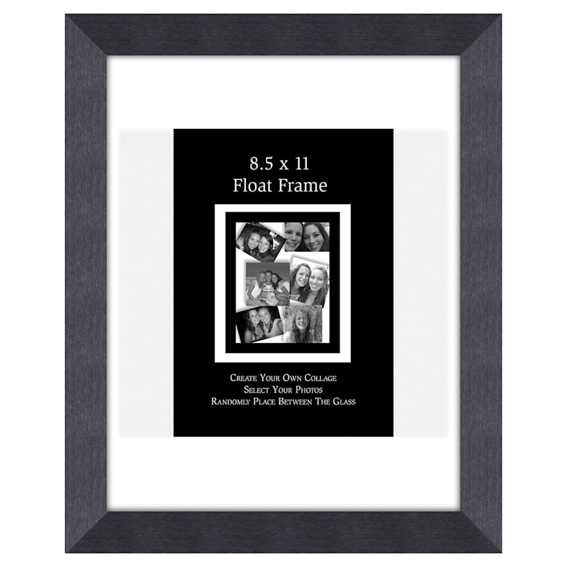 8.5X11 Charcoal Float Wall Photo Frame